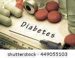 diabetes   diagnosis written on ... | Shutterstock . vector #449055103