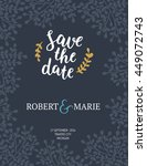 save the date card  wedding... | Shutterstock .eps vector #449072743