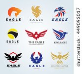 bird and eagle logo collection... | Shutterstock .eps vector #449093017