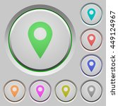 set of color location pin sunk... | Shutterstock .eps vector #449124967