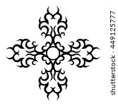 tattoo. stencil. pattern.... | Shutterstock .eps vector #449125777