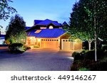 lovely curb appeal of large... | Shutterstock . vector #449146267