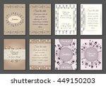 set of boho ornament... | Shutterstock .eps vector #449150203