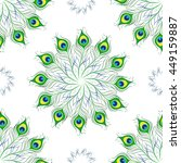 seamless pattern of peacock... | Shutterstock .eps vector #449159887