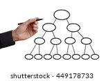 business man hand holding black ... | Shutterstock . vector #449178733