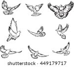dove  flying dove black and... | Shutterstock .eps vector #449179717