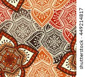 seamless pattern. vintage... | Shutterstock . vector #449214817