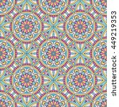 seamless pattern. vintage... | Shutterstock . vector #449219353