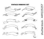 hand drawn doodle vintage... | Shutterstock .eps vector #449225257
