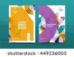 annual report a4 page cover ... | Shutterstock .eps vector #449236003
