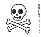 simple cartoon skull and... | Shutterstock .eps vector #449255707