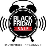 black friday big sale alarm... | Shutterstock .eps vector #449283277