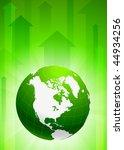 globe on green arrow background ... | Shutterstock .eps vector #44934256