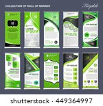 collection of green roll up... | Shutterstock .eps vector #449364997