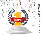 champion  number one background ... | Shutterstock .eps vector #449367187