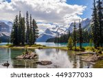 picturesque spirit island and... | Shutterstock . vector #449377033