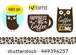 coffee cup with lettering ...   Shutterstock .eps vector #449396257