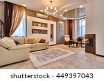 living room with a beautiful... | Shutterstock . vector #449397043