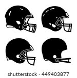 football helmet sport icon...