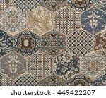 shabby mosaic tiles | Shutterstock . vector #449422207