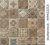 shabby mosaic tiles | Shutterstock . vector #449422213