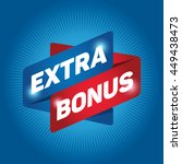 extra bonus arrow tag sign icon....