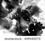 macro wash watercolor ink... | Shutterstock . vector #449440573