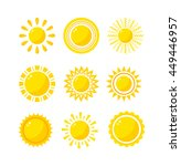 Vector Sun Icon Isolated On...