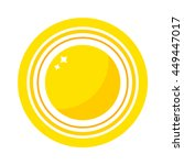 vector sun icon isolated on... | Shutterstock .eps vector #449447017