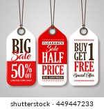 sale tag design collection made ... | Shutterstock .eps vector #449447233