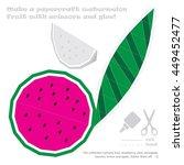 make a paper craft set of... | Shutterstock .eps vector #449452477