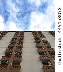 below condominium building... | Shutterstock . vector #449458093