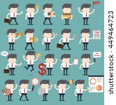 set of businessman character... | Shutterstock .eps vector #449464723