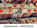 cactus in small flowerpots  ... | Shutterstock . vector #449474143