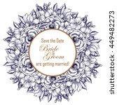 vintage delicate invitation... | Shutterstock . vector #449482273
