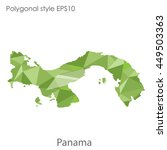 panama map in geometric... | Shutterstock .eps vector #449503363