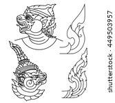 thai art | Shutterstock .eps vector #449503957