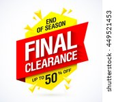 final clearance  end of season... | Shutterstock .eps vector #449521453