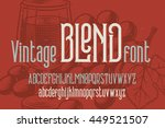 retro condensed font named ... | Shutterstock .eps vector #449521507