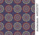 seamless pattern. vintage... | Shutterstock . vector #449523757