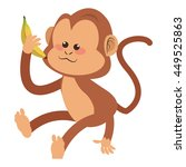 simple flat design monkey... | Shutterstock .eps vector #449525863