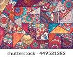 seamless pattern. vintage... | Shutterstock . vector #449531383