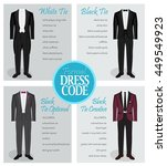 formal dress code guide... | Shutterstock .eps vector #449549923