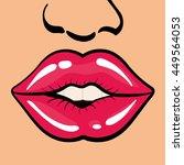 pop art concept represented by... | Shutterstock .eps vector #449564053