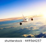 commercial airplane flying... | Shutterstock . vector #449564257