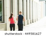 rear view of young couple... | Shutterstock . vector #449581627