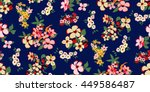 trendy seamless floral pattern... | Shutterstock .eps vector #449586487