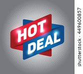 hot deal arrow tag sign icon.... | Shutterstock .eps vector #449600857