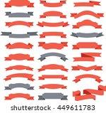 vector set of 29 ribbons | Shutterstock .eps vector #449611783