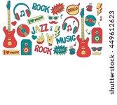 music doodle vector set | Shutterstock .eps vector #449612623